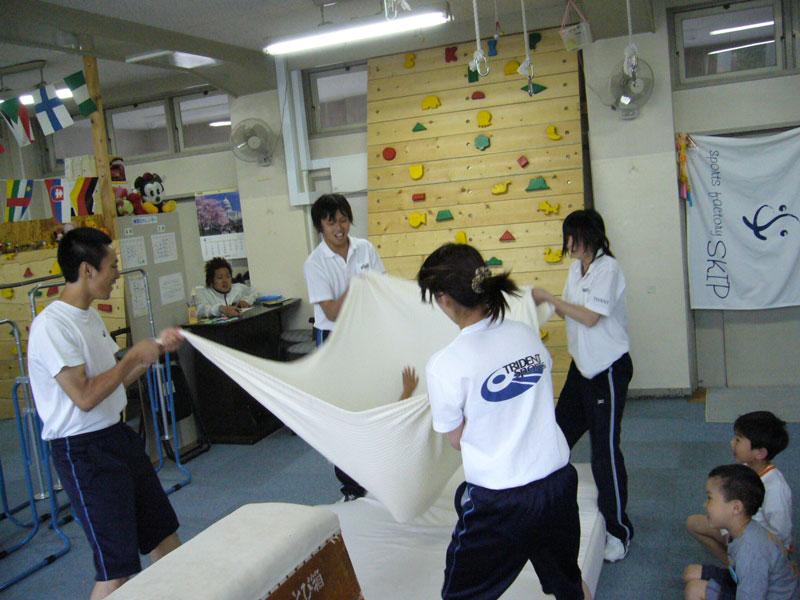毛布トランポリン