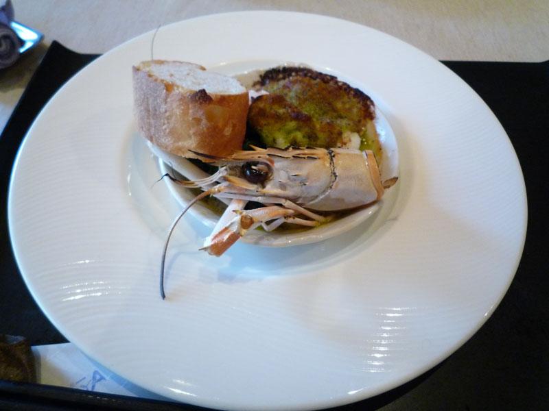ニュージーランド産 手長海老のステーキ